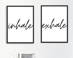 A4 Poster, Poster Wall, Create Your Own Poster, Black And White Posters, Inhale Exhale, Be Kind To Yourself, Line Art, Sayings, Paper