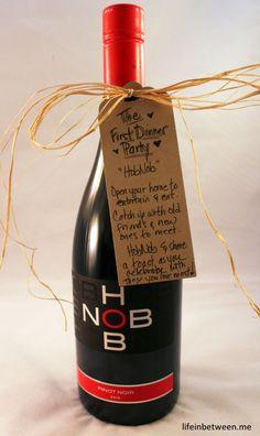 wine bridal shower gift first dinner party bottle