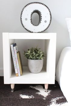 Chic Ikea Hacks - These Ikea hack DIY side tables only cost $35 to make, and they're pretty much one of a kind.