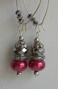 Isabella Handmade Beaded Earrings by bdzzledbeadedjewelry on Etsy, $12.00
