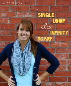 Lace infinity scarf.