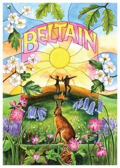 Beltain Card, Celtic Wheel of the Year More