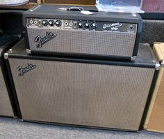 This is the rig I played in High School. Except I stood the speaker cabinet up the other way.