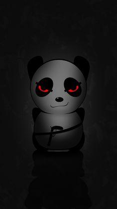 Panda Wallpaper Iphone, Dark Phone Wallpapers, Cute Fall Wallpaper, Cute Black Wallpaper, Crazy Wallpaper, Hacker Wallpaper, Glitch Wallpaper, Panda Wallpapers, Anime Wallpaper Phone