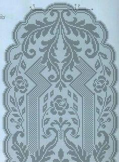 Crochet Patterns Filet, Crochet Table Runner Pattern, Crochet Tablecloth, Crochet Motif, Crochet Diagram, Crochet Doilies, Oval Tablecloth, Thread Crochet, Crochet Stitches