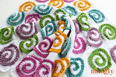 The Modern Rose Afghan is a gorgeous motif based blanket, that can be made in any size, and features gorgeous modern spirals that pop out in 3D for a floral impression that modern and fun! It's a wonderful balance between the floral and the graphic - for everyone to enjoy!