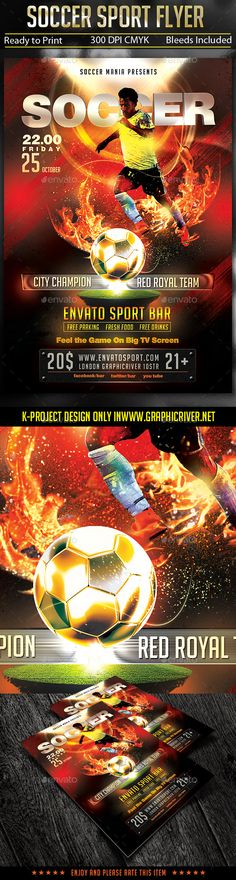 WORLD GAMES - Sports Flyer Template Flyer template, Fonts and - sports flyer template