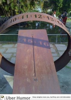 awesome sundial in Brazil