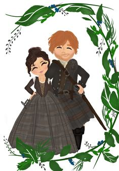 Reposted from ( - I animated one of my original Outlander pieces from a couple years ago! I love how the wreath… Outlander Fan Art, Serie Outlander, Sam Heughan Outlander, Claire Fraser, Jamie And Claire, Jamie Fraser, Outlander Costumes, Caitriona Balfe, Series Movies