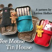 Wee Mouse Tin House - via @Craftsy