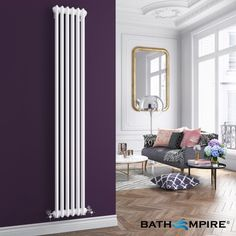 Good space saving idea - 1800x290mm White Double Panel Vertical Colosseum Radiator - Roma Premium