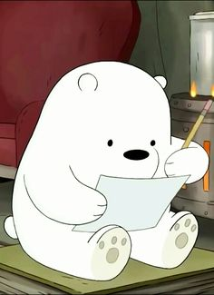 We bare bears Ice Bear We Bare Bears, We Bear, Bear Wallpaper, Disney Wallpaper, Cartoon Network, Instagram Png, Polar Bear Cartoon, Ocean Wave, We Bare Bears Wallpapers