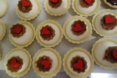 For dessert: cream cheese tartlets with chocolate caramel toasts. - valentines day