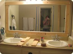 Our Suburban Cottage: Master Bath Redo: Post 2 – Framing a Mirror