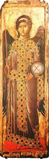 Studio icona Arcangelo Gabriele dal Monastero di Decani (1340 circa) - iconecristiane - Picasa Web Album
