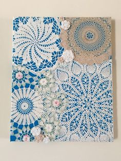 Best Ideas For Crochet Doilies Vintage Wall Art Framed Doilies, Lace Doilies, Crochet Doilies, Crochet Projects, Sewing Projects, Craft Projects, Crochet Ideas, Fun Crafts, Diy And Crafts