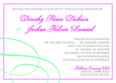 Classy design from The Plume Collection ready-to-order wedding/event invitations.