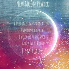 With a new moon set your intentions for yourself. This is the perfect time to