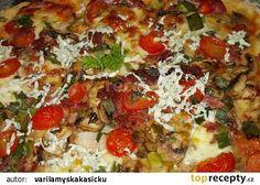 Blesková pizza z jogurtu ( kefíru ) recept - TopRecepty.cz