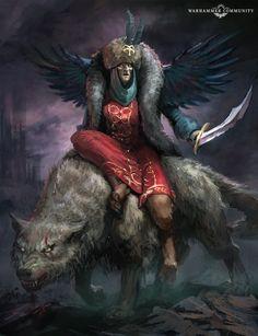Warhammer 40k Art, Warhammer Fantasy, Tyranids, Dire Wolf, Lost Soul, Dark Fantasy Art, Colour Schemes, Art Pictures, Art Drawings