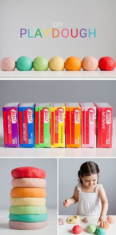 Homemade playdough – If ever there was a quintessential DIY this is it! Parents and children have been happily cooking up this stuff at home for decades. Today our newest contributor Kaley is sharing her favorite play dough recipe using another kid classic: Jell-O (because it just wouldn't be an MPMK post without some sort …