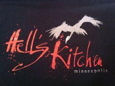 Mens Hell's Kitchen T Shirt L Black Vulture Minneapolis Damn Good Food Iron Chef | eBay