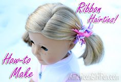 How to make ribbon hairties for your dolls