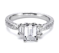My engagement/wedding ring by Tacori embodying vintage charm