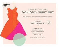 Fashion's Night Out at Anthropologie.
