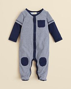 Bloomies Baby Infant Boys' Striped Footie - Sizes 3-9 Months_0