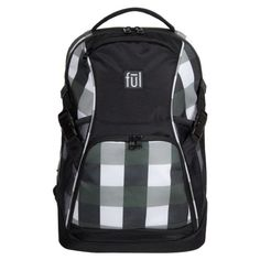 The ful Marlon Laptop Backpack offers a stylish and functional storage solution to meet your school, vacation, or everyday needs. Lightweight design boasts a spacious main compartment with a padded laptop sleeve and mesh side pockets for drinks. Rolling Backpack, Laptop Backpack, Travel Backpack, Black Backpack, Luggage Trolley, Luggage Bags, Front Bottoms, Back Strap