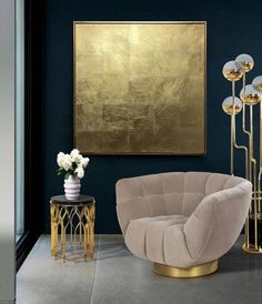 Gold Leaf Art Abstract Painting Minimalism Art Original Modern Art Large Gold Painting Abstract Art