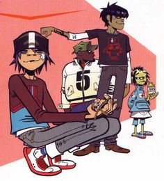 Gorillaz 2-D murdoc Russell and noodle