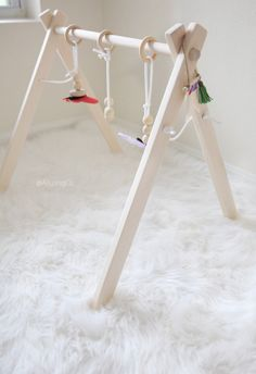 Classic Wooden Baby Play Gym by AlluringCo on Etsy