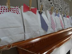 """Boy baby shower favors - """"Little gentlemen"""" to accompany a nautical-themed baby shower"""