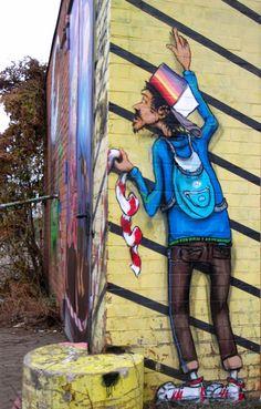 Street art | Mural by Olf-Lupin