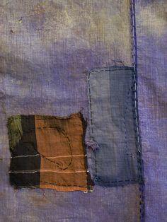 5 dec 12 [A Violet Colored Boro Cloth: Lightweight Cotton ca. mid twentieth century]