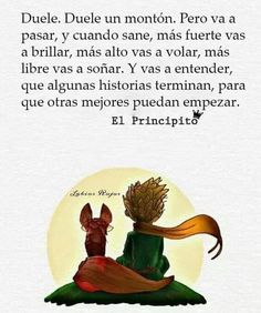 Image may contain: text Words Quotes, Me Quotes, The Little Prince, Sad Love, More Than Words, Spanish Quotes, Life Motivation, Motivationalquotes, Quotations