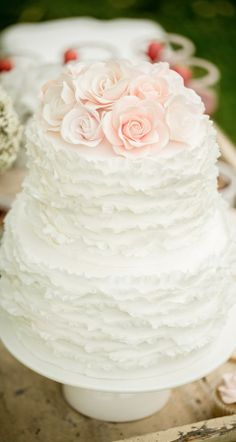 Mini Two Tier Ruffle Cake
