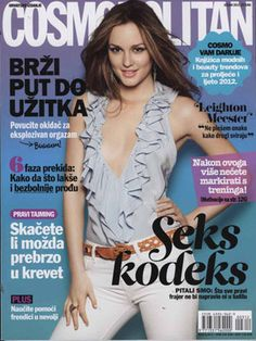 Hot Cosmo covers you've never seen! Leighton Meester, Croatia, March 2012
