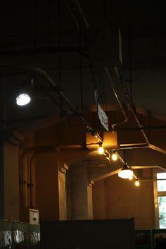 retro lighting , Rissei elementary school , Kyoto