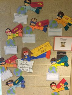 Earth Day Craft and Writing Prompt Be a Superhero & Save the Earth for Grade - miljø Earth Day Crafts, Earth Craft, Green School, Poetry Month, Earth Day Activities, Fun Learning, Teacher Resources, Kindergarten, Bulletin Board