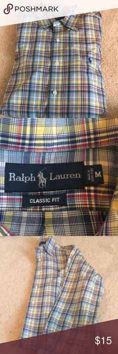 Men's long sleeve polo Men's long sleeve button up polo, perfect condition Polo by Ralph Lauren Shirts Dress Shirts