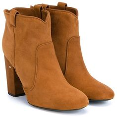 Laurence Dacade Pete Suede Ankle Boot (542.520 CLP) ❤ liked on Polyvore featuring shoes, boots, ankle booties, suede ankle boots, suede bootie, block heel ankle boots, retro boots and suede ankle booties