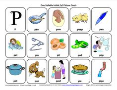 Initial P: Free Speech Therapy Articulation Picture Cards, wow, and all the other early developing sounds, too!