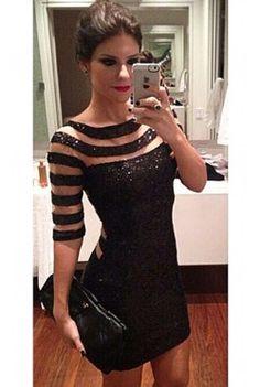 Sequins Bodycon Party Mini Dress