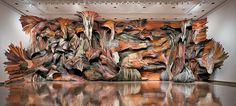 Henrique Oliveira - http://www.demilked.com/recycled-wood-sculptures-henrique-oliveira/