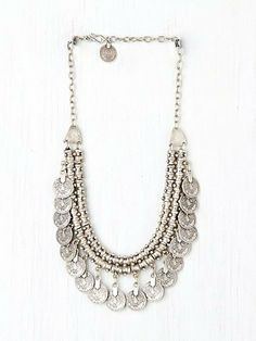 Silver Coin Necklace Pewter Short Chain Coin Link Cleopatra Choker Coin Collar Native American Tribal Chic Gypsy Traveler Boho Coachella on Etsy, $56.17 CAD