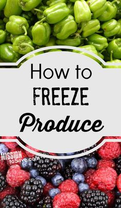 How to Freeze Produce: Tips for Freezing Fruits and Vegetables. Also includes a… How to Freeze Produce: Tips for Freezing Fruits and Vegetables. Also includes a printable produce seasons list. Freezing Fruit, Freezing Vegetables, Frozen Vegetables, Fruits And Veggies, Vegetables List, Fruits Basket, Freezer Cooking, Freezer Meals, No Cook Meals