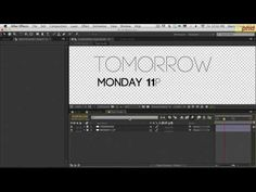 (125) Broadcast Design in After Effect Lesson 3 - YouTube